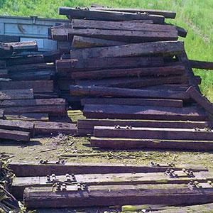 Altholz - Was darf nicht hinein: Eisenbahnschwellen