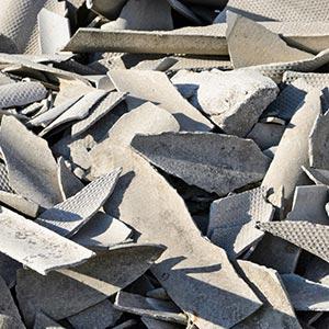 Asbestzement [Eternit] - Was darf hinein: Dachplatten aus Asbestzement