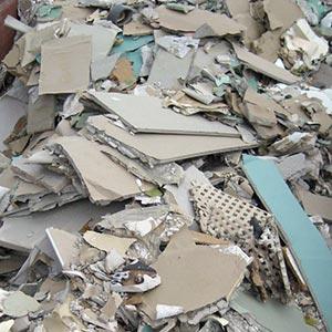 Asbestzement [Eternit] - Was darf nicht hinein: Gipskartonplatten