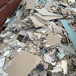 Baustellenabfälle [gemischt] - Was darf hinein: Gipskartonplatten