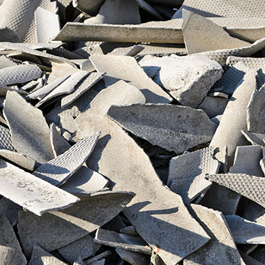 Sperrmüll - Was darf nicht hinein: Asbestzement