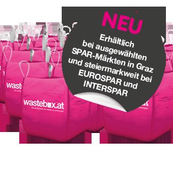 Wastebox.at Bags erhältlich bei SPAR-Märkten